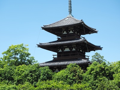 法起寺・三重塔