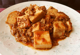 赤身肉を叩いて作るヘルシー本格麻婆豆腐