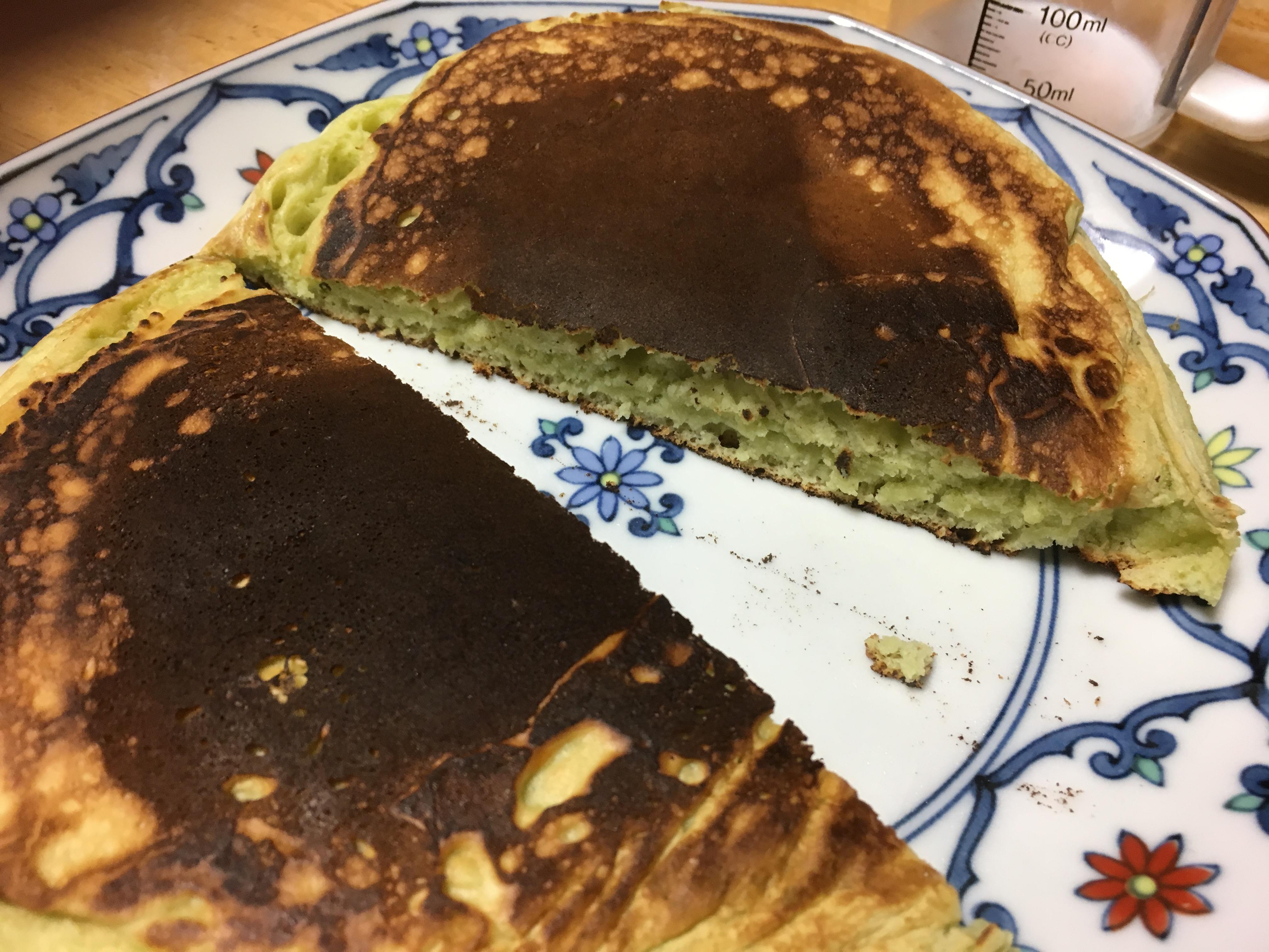 青汁のホットケーキ