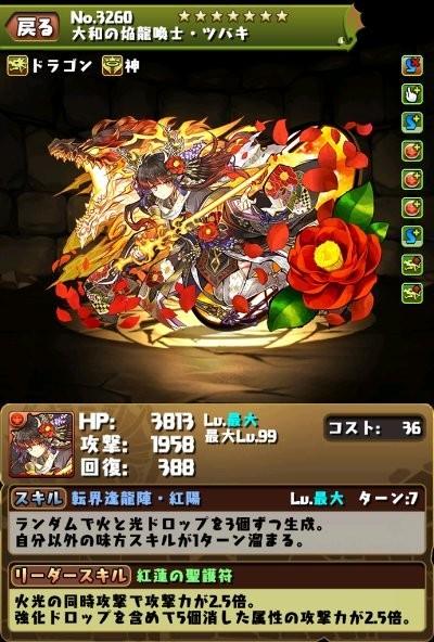 ツバキ(火)